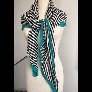 Striking, gauzy striped scarf - worn 1 or 2 times
